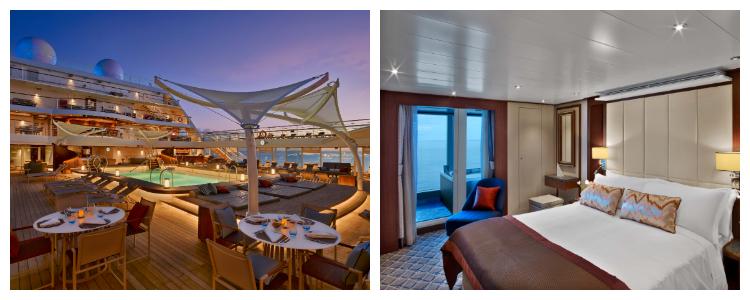 prachtig ingerichte en luxe suite, veelal met een privé veranda.